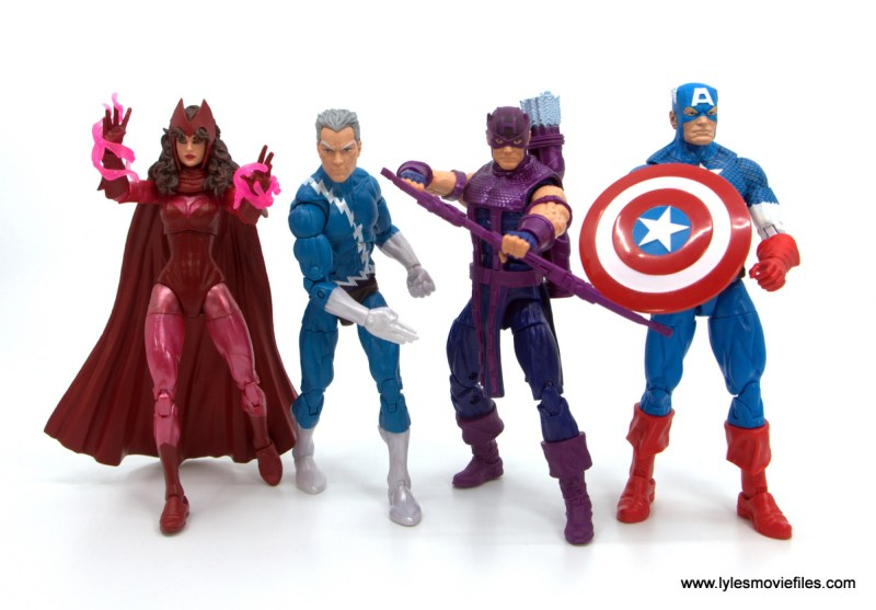 Marvel Legends Magneto, Quicksilver and Scarlet Witch figure review - scarlet witch, quicksilver, hawkeye and captain america