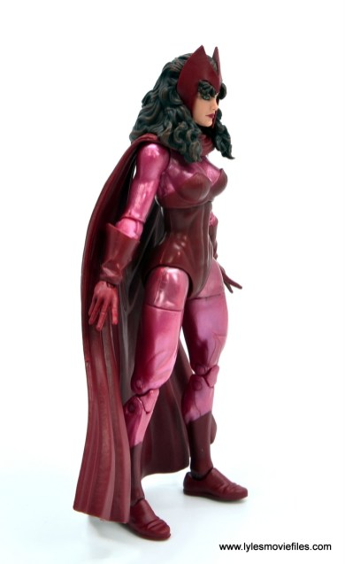 Marvel Legends Magneto, Quicksilver and Scarlet Witch figure review - scarlet witch right side