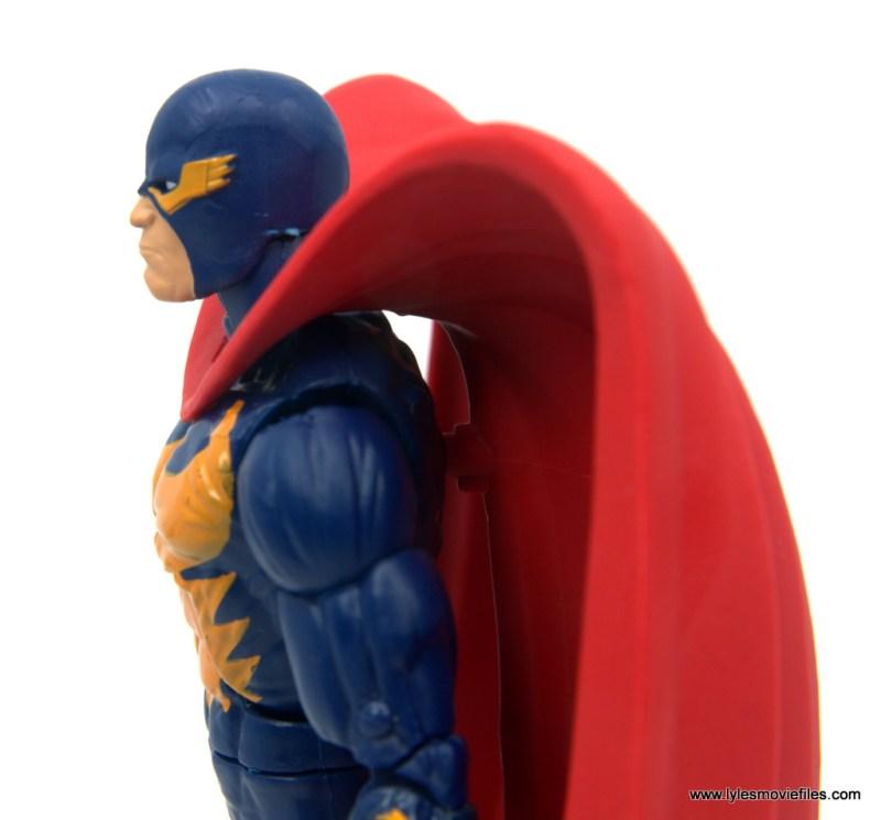 Marvel Legends Nighthawk figure review -cape plug