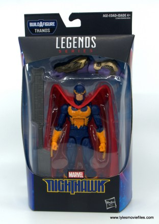Marvel Legends Nighthawk figure review -package front