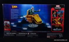 Marvel Legends Professor X figure review - package rear