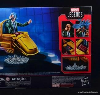 Marvel Legends Professor X figure review - package rear right side