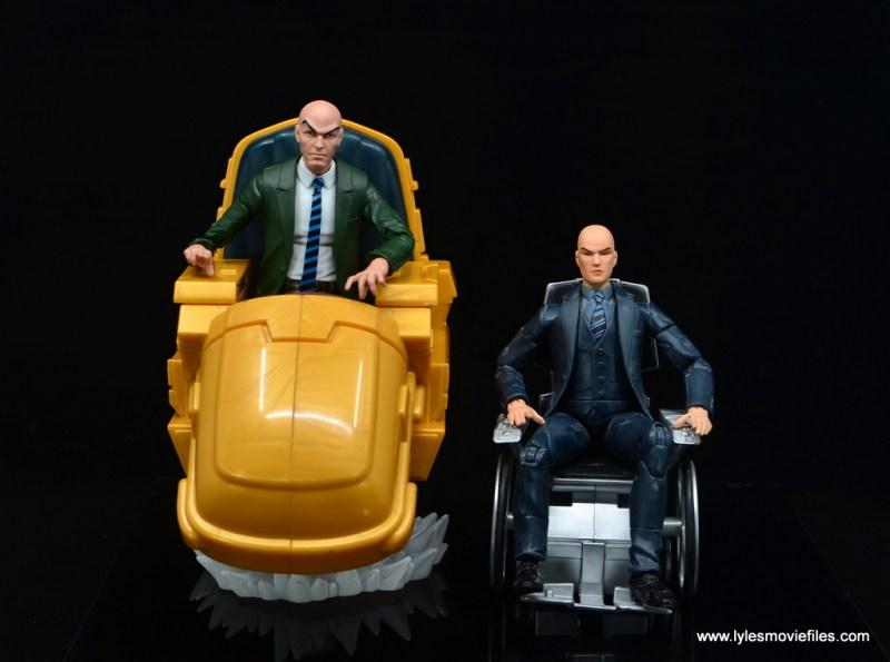 Marvel Legends Professor X figure review - with toy biz professor xavier