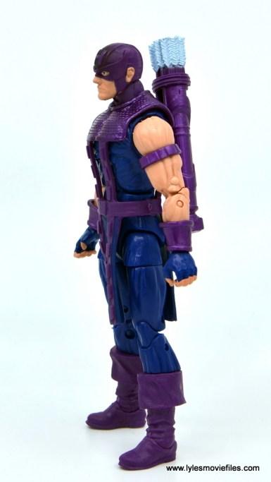Marvel Legends Retro Hawkeye figure review - left side