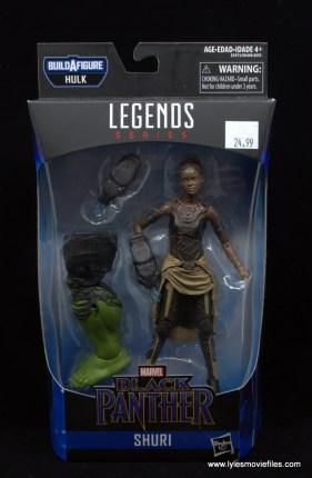 Marvel Legends Shuri figure - package front