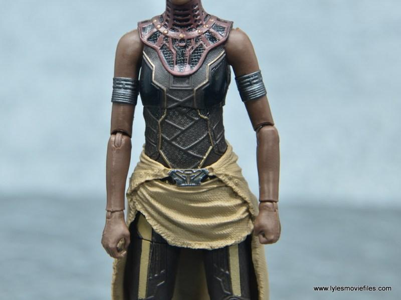 Marvel Legends Shuri figure - uniform front detail