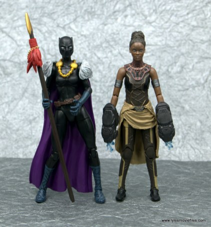 Marvel Legends Shuri figure - with comic book shuri