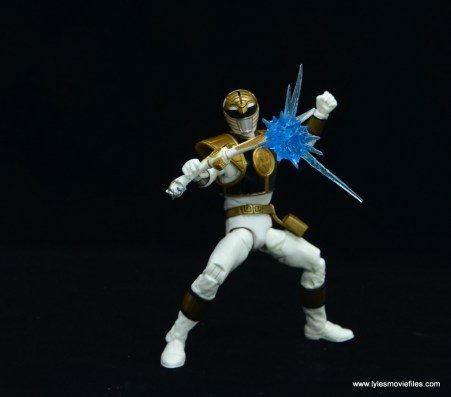 Power Rangers Lightning Collection White Ranger figure review -blaster blast