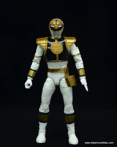 Power Rangers Lightning Collection White Ranger figure review - front