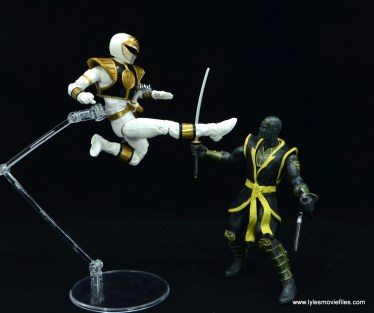 Power Rangers Lightning Collection White Ranger figure review -jump kicking ronin