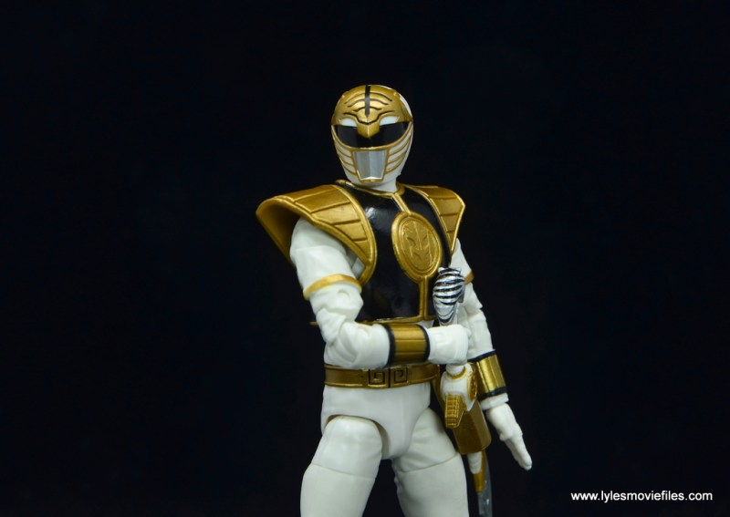 Power Rangers Lightning Collection White Ranger figure review - reaching for sword