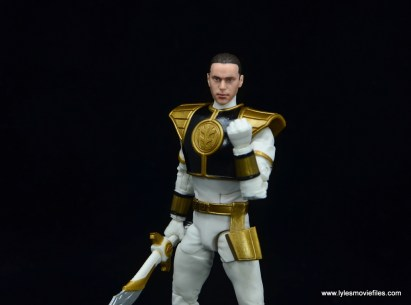 Power Rangers Lightning Collection White Ranger figure review - wide tommy head