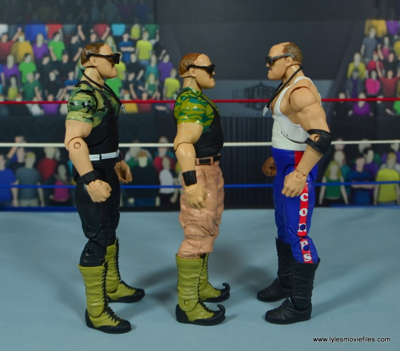 WWE Basic Sgt. Slaughter figure review - scale with sgt slaughter hall of fame and legends
