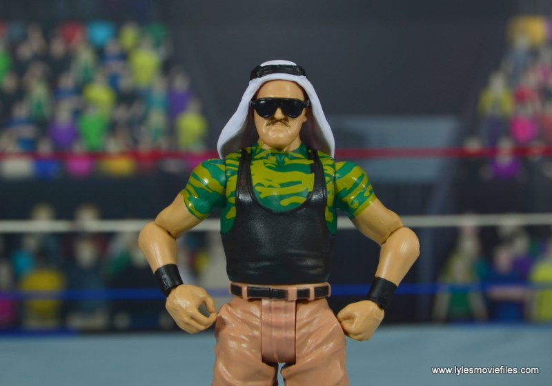 WWE Basic Sgt. Slaughter figure review - wide pic