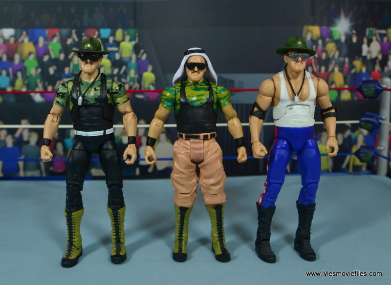 WWE Basic Sgt. Slaughter figure review -with first two elite sgt slaughters
