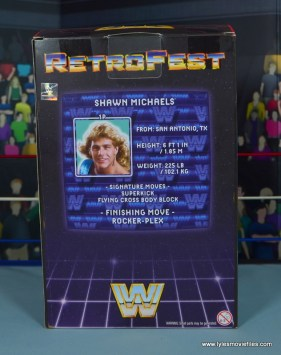 WWE RetroFest Shawn Michaels figure review - package rear
