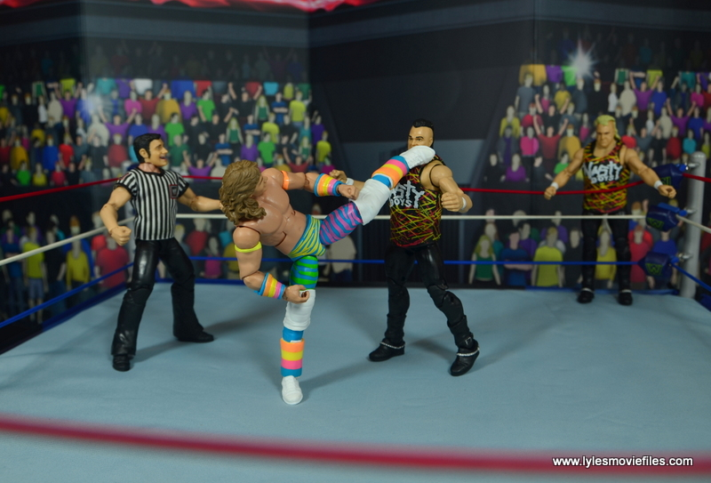 WWE RetroFest Shawn Michaels figure review -superkick to saggs
