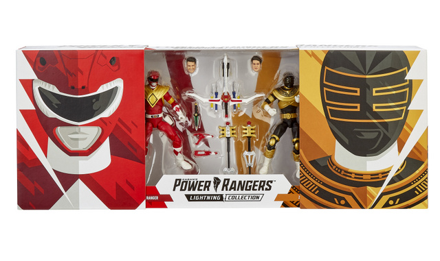 hasbro sdcc 2019 lightning collection red ranger and zeo gold ranger in package