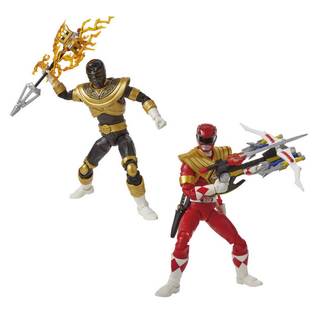 hasbro sdcc 2019 lightning collection red ranger and zeo gold ranger loose proto