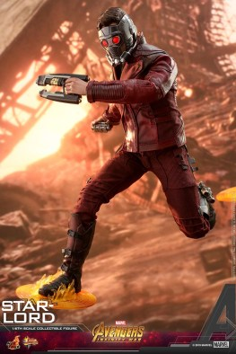 hot toys avengers infinity war star-lord figure -stepping on portals
