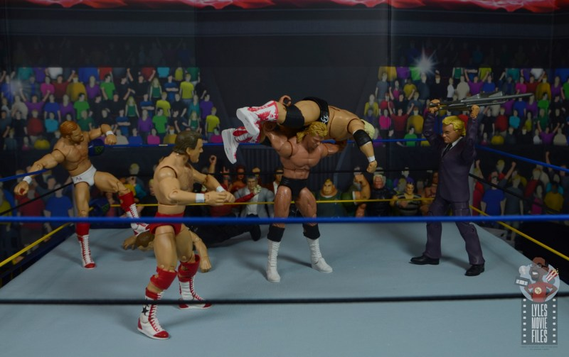 wwe build-a-figure jj dillon figure review - helping luger attack dusty