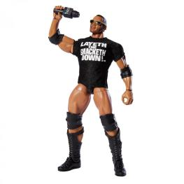 wwe elite 69 the rock wal-mart exclusive - wearing accessories