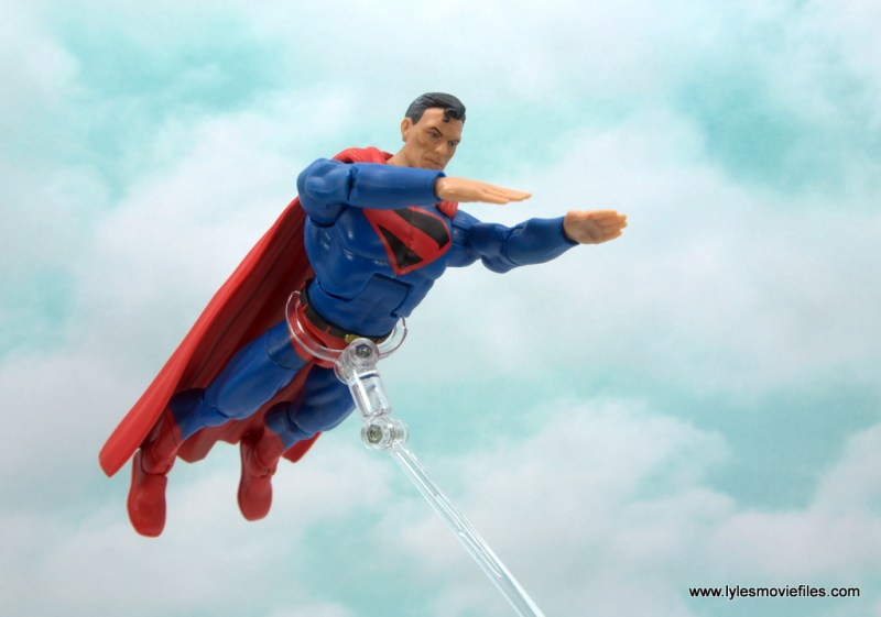 DC Multiverse Kingdom Come Superman figure review - flying