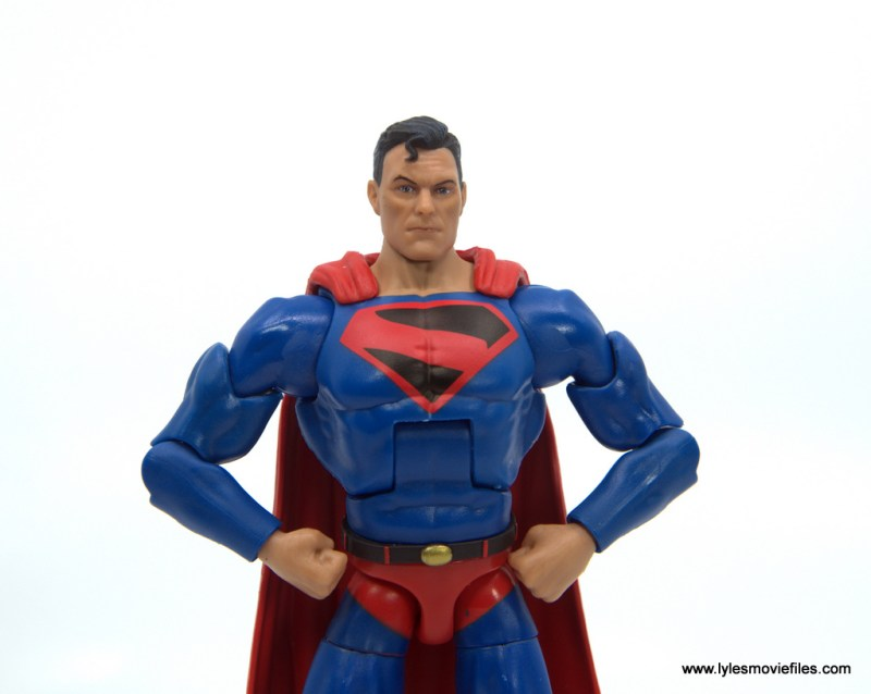 DC Multiverse Kingdom Come Superman figure review -hands on hips