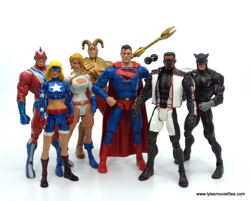 DC Multiverse Kingdom Come Superman figure review - modern jsa with steel, stargirl, power girl, magog, mr. terrific and wildcat