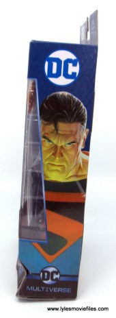 DC Multiverse Kingdom Come Superman figure review - package side