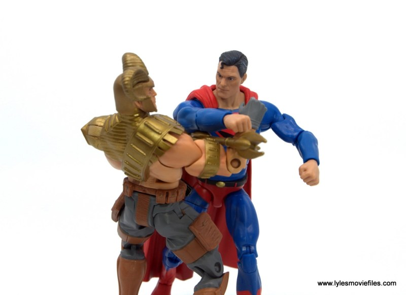 DC Multiverse Kingdom Come Superman figure review - punching magog