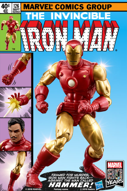 Hasbro Marvel Legends 80th Anniversary Iron Man Comic Book Cover