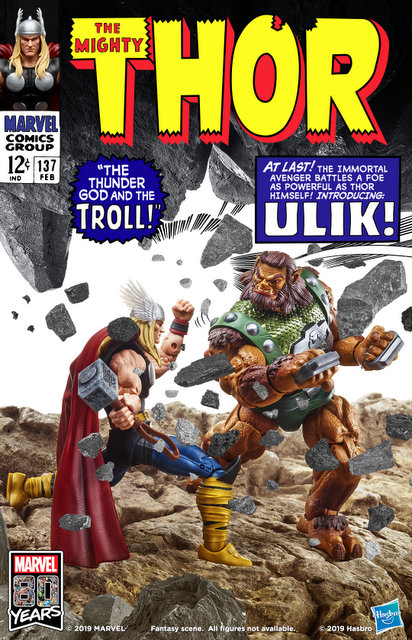 Hasbro Marvel Legends 80th Anniversary Thor Comic Book Cover