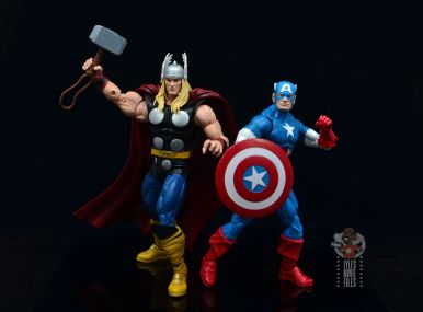 Marvel Legends 80th Thor figure review - into battle with captain america