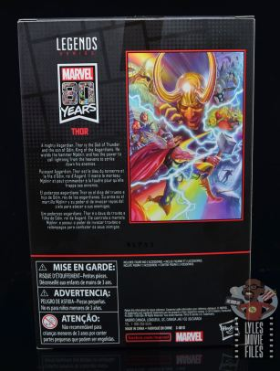 Marvel Legends 80th Thor figure review - package rear