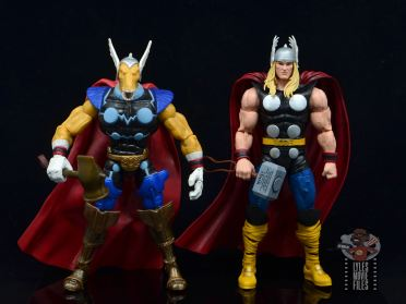 Marvel Legends 80th Thor figure review - scale with beta ray bill