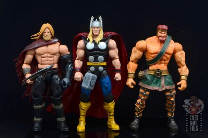 Marvel Legends 80th Thor figure review - scale with unworthy thor and hercules