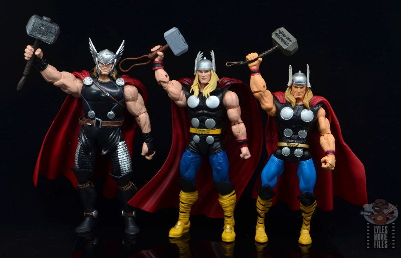 Marvel Legends 80th Thor figure review - thors raising mjolnirs