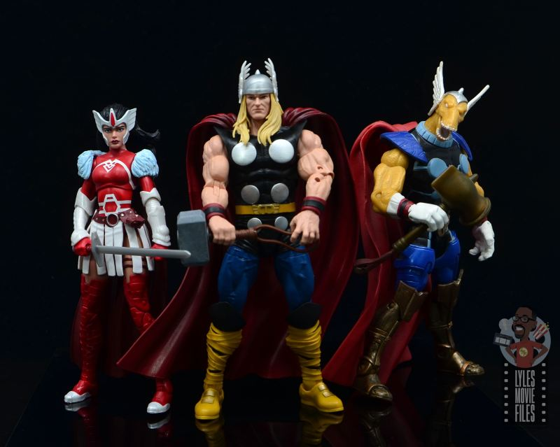 Marvel Legends 80th Thor figure review - with lady sif and beta ray bill
