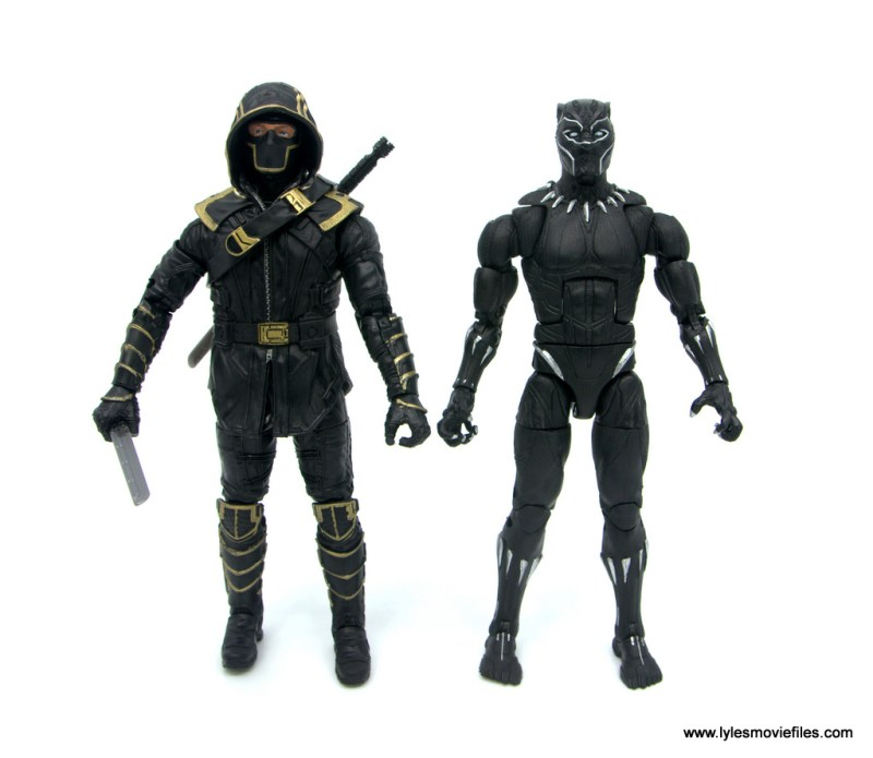 Marvel Legends Black Panther BAF Okoye figure review - scale with ronin