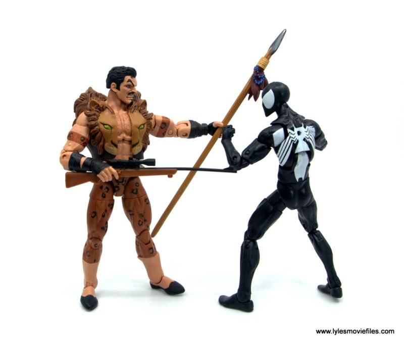 Marvel Legends Kraven and Spider-Man two-pack figure review - face off