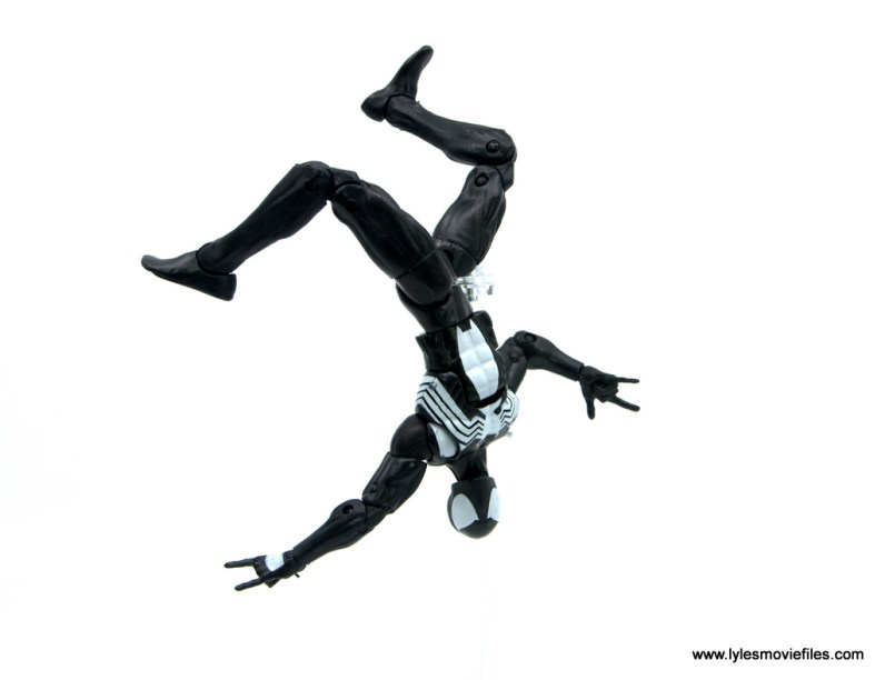 Marvel Legends Kraven and Spider-Man two-pack figure review - flipping spider-man