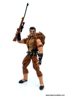 Marvel Legends Kraven and Spider-Man two-pack figure review - kraven holding rifle