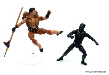 Marvel Legends Kraven and Spider-Man two-pack figure review - kraven leaping at black panther