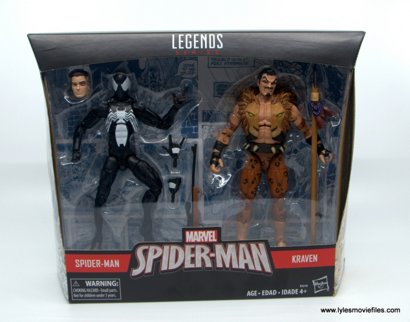Marvel Legends Kraven and Spider-Man two-pack figure review - package front