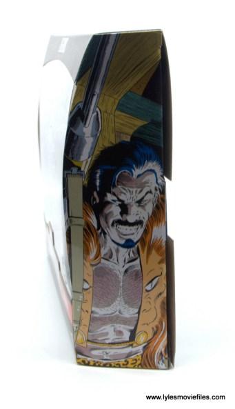 Marvel Legends Kraven and Spider-Man two-pack figure review - package left side