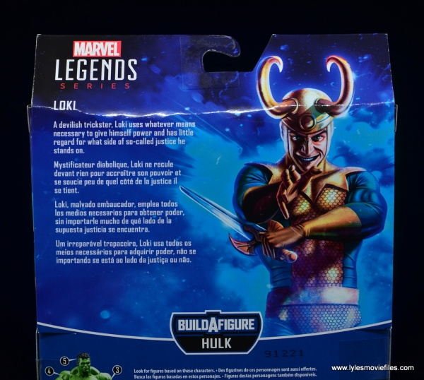 Marvel Legends Loki figure review - package bio