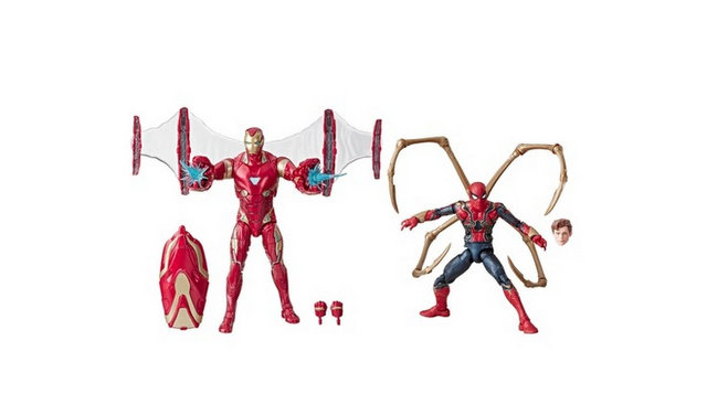 Marvel Legends Series Avengers Infinity War 6 Movie-Inspired Iron Man And Iron Spider 2-Pack (SDCC Debut) Target - loose