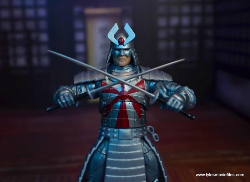 Marvel Legends Silver Samurai figure review - crossing swords