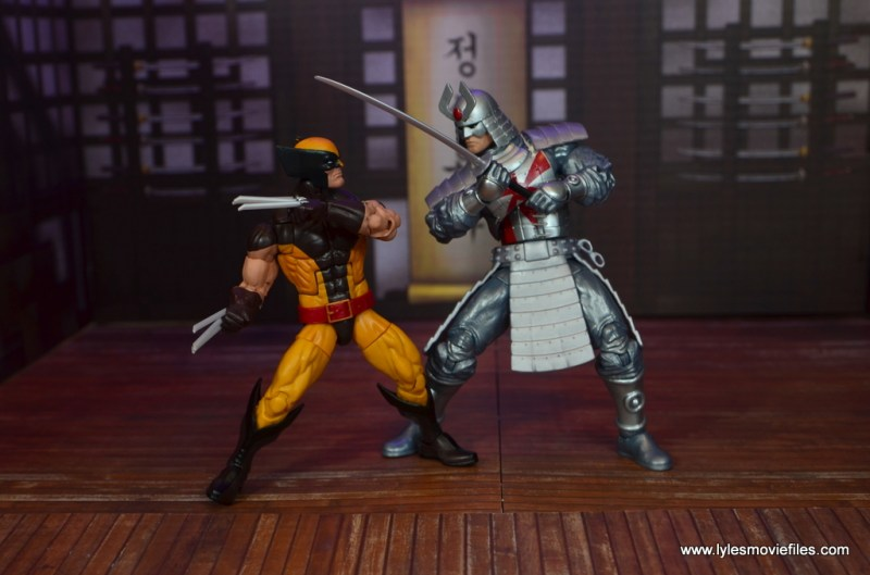 Marvel Legends Silver Samurai figure review - duel with wolverine